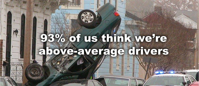 93% of drivers think they're above average. Does this overconfidence seep into your relationship?