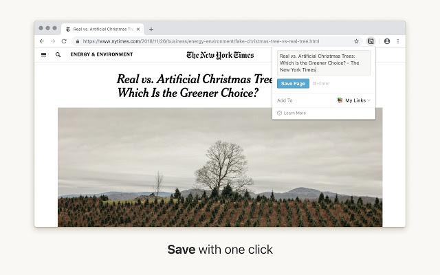 Saving an article from NY Times using the Notion Clipper.