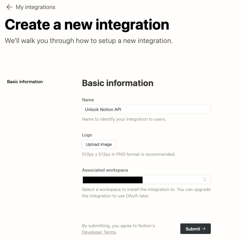 Notion API Token